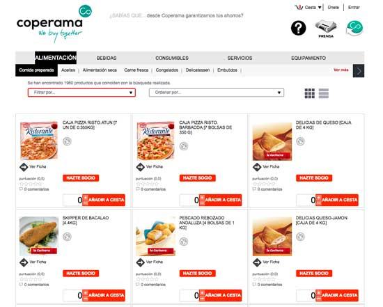 web Coperama - profesionalhoreca
