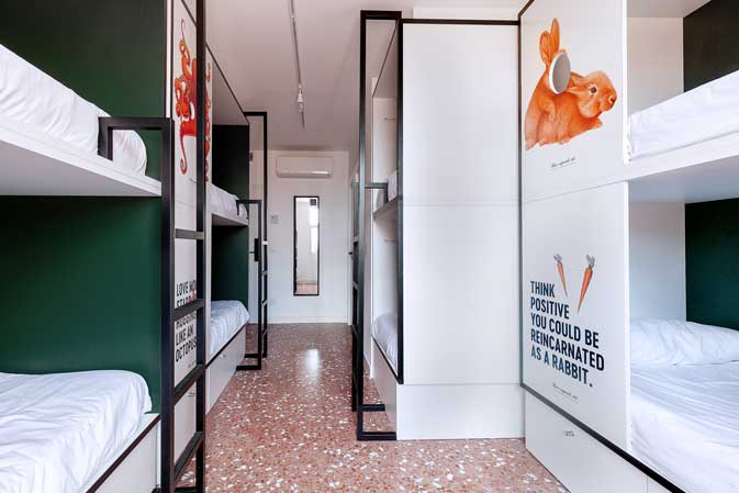 Hostel 2060, habitación grupo, ProfesionalHoreca