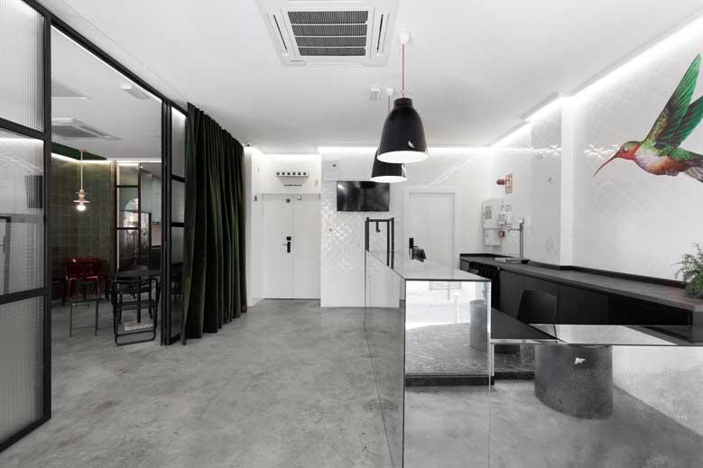 Hostel 2060, recepción, Profesionalhoreca