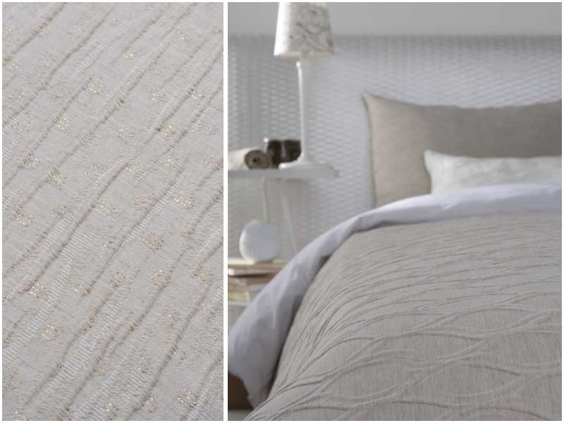 Profesionalhoreca, colcha realizada con tejidos reciclados, de la colección The Right Textil de Carmela Martí