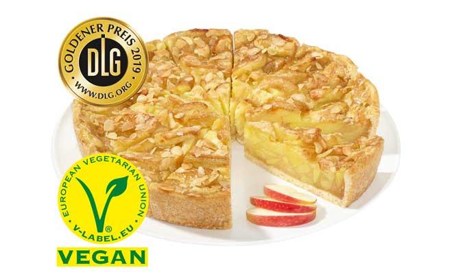 Profesionalhoreca, tarta de manzana vegana de Erlenbacher