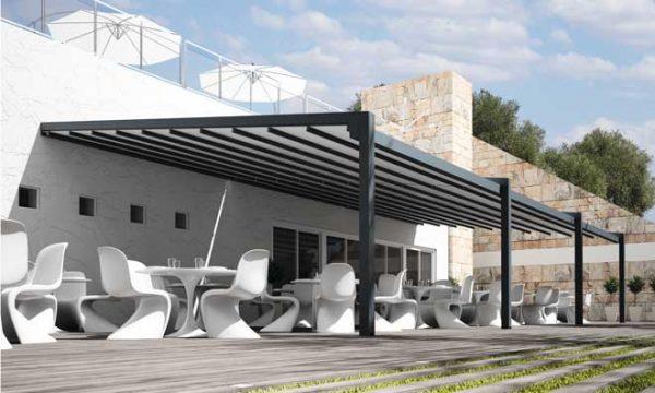 Pérgola de lona tensada Fúlvia: la nueva estrella de Saxun para las terrazas