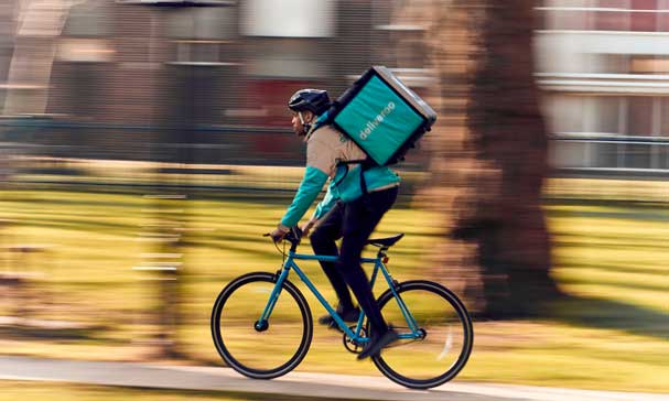 Profesionalhoreca, rider de Deliveroo