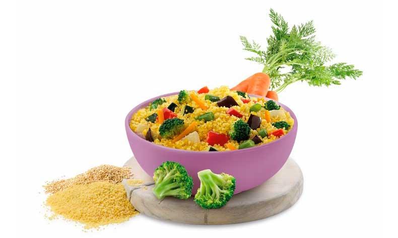 Profesionalhoreca, Cous cous con quinoa y verduras, Maheso