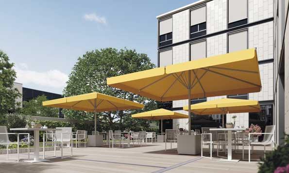 Profesionalhoreca, parasol Besta, terraza, Saxun
