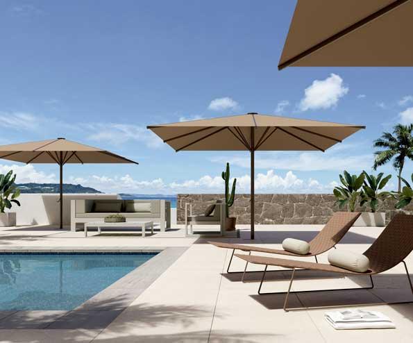 Profesionalhoreca, parasol Besta, terraza, piscina, Saxun