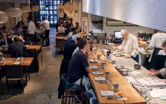 Profesionalhoreca, Xavier Pellicer restaurante, barra encimera TPB tech