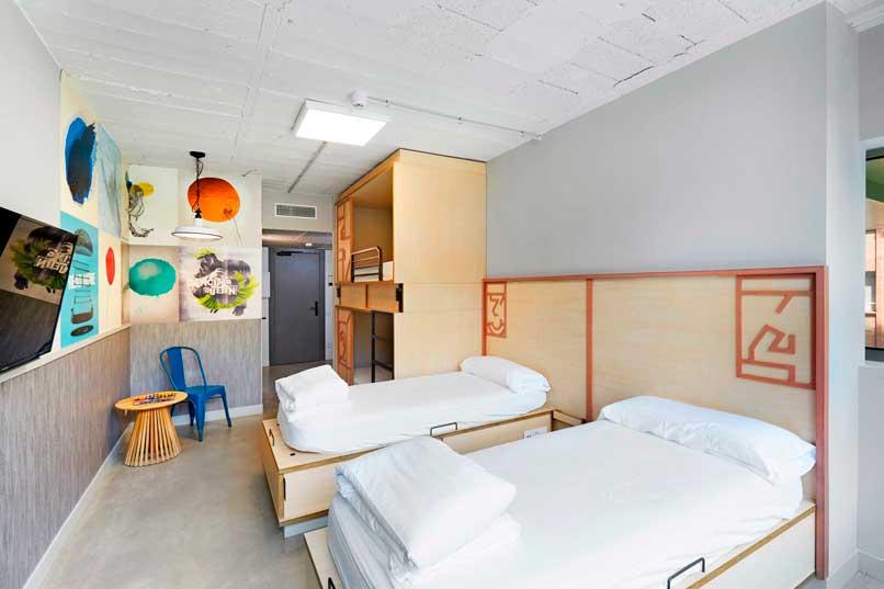 Profesionalhoreca, hostel Unite, habitación familiar