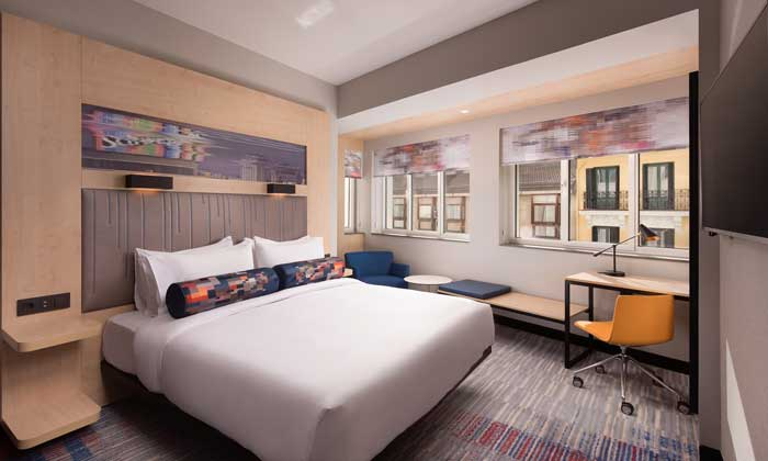 Profesionalhoreca, habitación, hotel Aloft Madrid