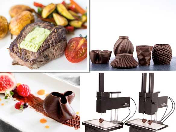 Profesionalhoreca, impresora de alimentos 3D Procusini 4.0, creaciones