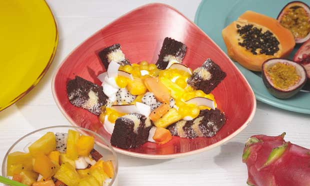 Profesionalhoreca. Erlenbacher, receta, Cake bowl caribeño