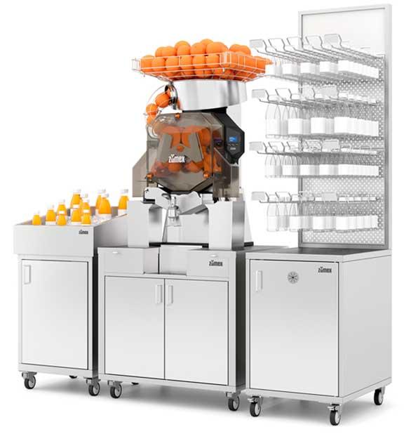 Profesionalhoreca, rincón de zumos o juice corner de Zumex, máquina exprimidora
