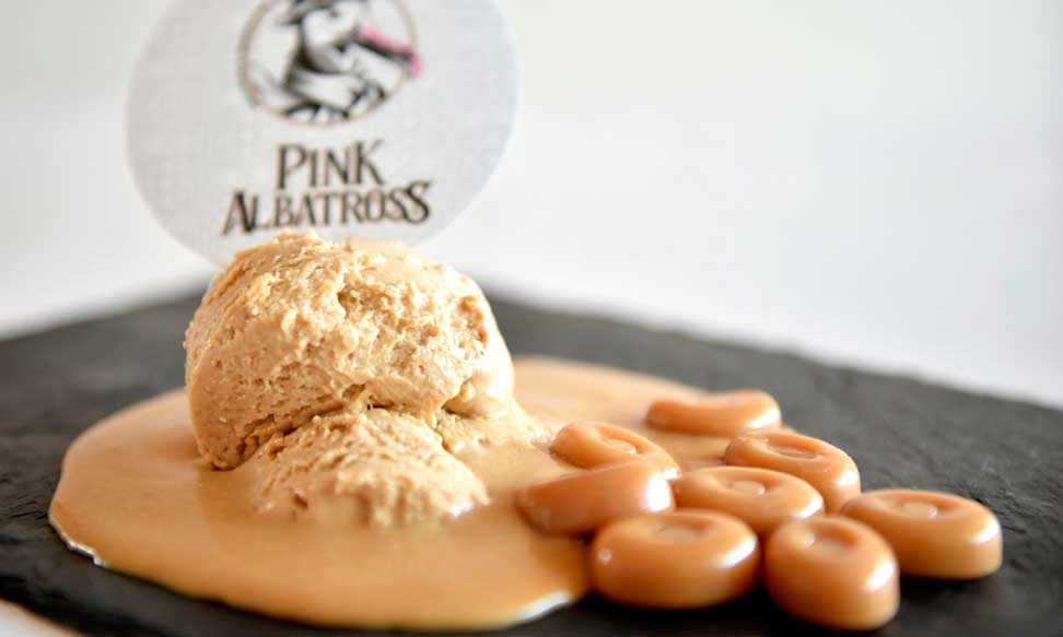 Profesionalhoreca, helados vegetales, helados plant based, Pink Albatross, helado de toffee