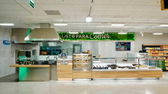 Profesionalhoreca, sección de comida preparada «Listo para comer» en un supermercado de Mercadona