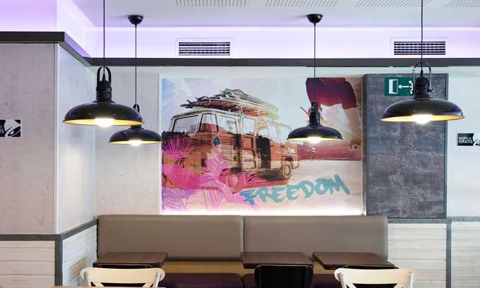 Profesionalhoreca, revestimiento decorativo Element 3D de Grosfillex, Taco Bell