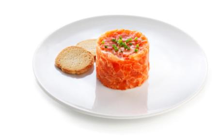 Profesionalhoreca, tartar de salmón ahumado, Ahumados Domínguez