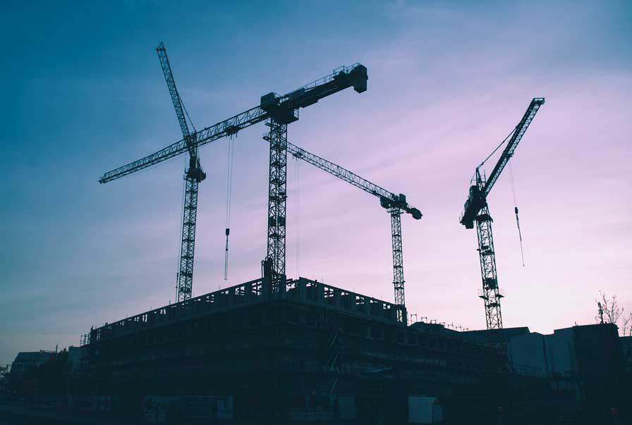 Profesionalhoreca, obra, construcción de edificio, grúas