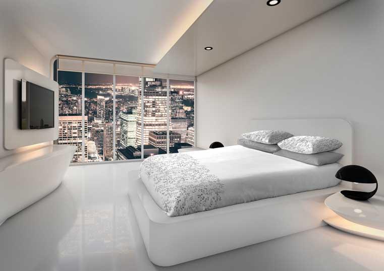 Profesionalhoreca, ropa de cama Vayoil con estampación Indanthren en habitación de hotel