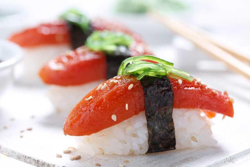 Profesionalhoreca, sushi de atún vegetal Tunato