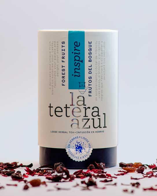 Profesionalhoreca, La Tetera Azul, bote de infusiones en pirámides
