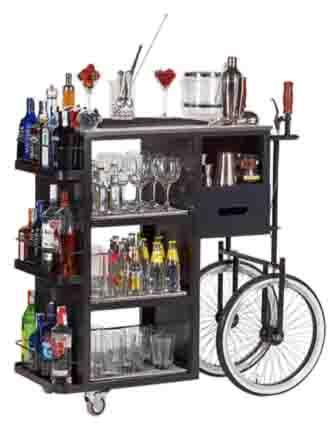 Profesionalhoreca, carrito de coctelería Cabrio, de Cuchillería Navarro