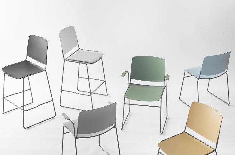Profesionalhoreca, silla apilable Mass, de Sellex, en diferentes formatos