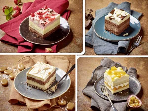 Profesionalhoreca, tartas cuadradas de nata de Erlenbacher