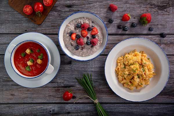 Profesionalhoreca, platos hechos con la máquina de huevos revueltos Scraegg