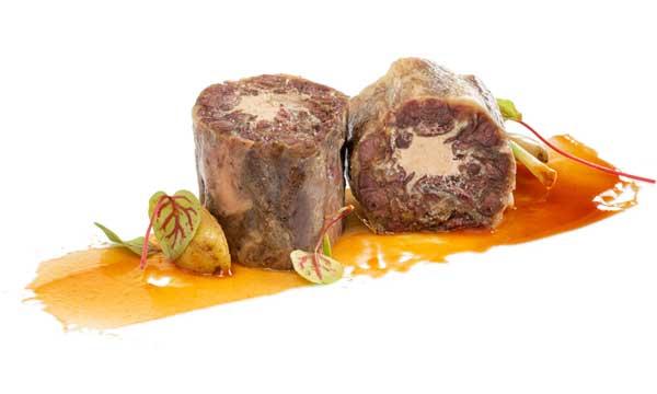 Profesionalhoreca, producto de quinta gama de Gastrocook, rabo de vacuno relleno de foie