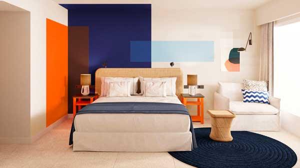 Profesionalhoreca, habitación del hotel Room Mate Olivia, en lagaluf (Mallorca)