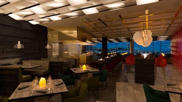 Profesionalhoreca, sala del restaurante Fire, en el hotel W Barcelona