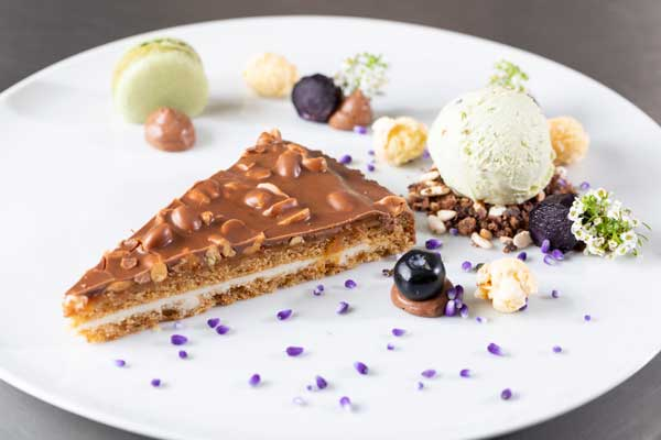 Profesionalhoreca, postre con tarta de Erlenbacher