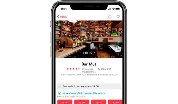 Profesionalhoreca, app de OpenTable