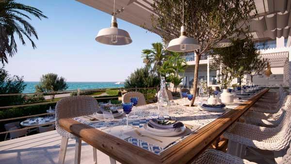 Profesionalhoreca, restaurante griego Ouzo del resort Ikos Andalusia, en Estepona