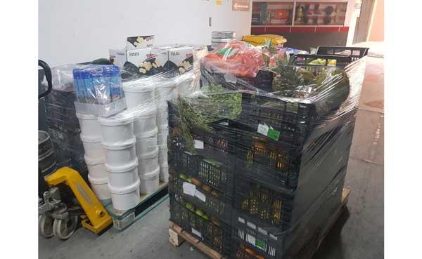 Profesionalhoreca, alimentos perecederos que Fuerte Hotels ha donado a Cáritas