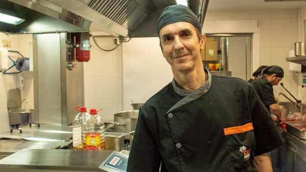 Jordi Mor, responsable de cocina del  Centre d'Estudis Montseny