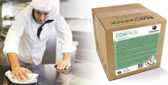 Profesionalhoreca, desinfectante Conpack de Proquimia