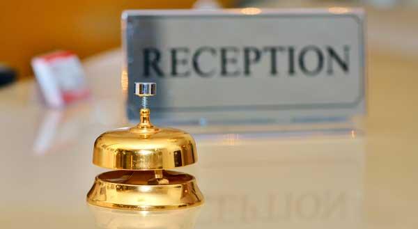 Profesionalhoreca, recepción de hotel