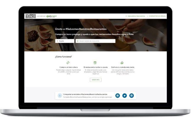 profesionalhoreca, home de la web Salvemos Nuestros Restaurantes, de ElTenedor