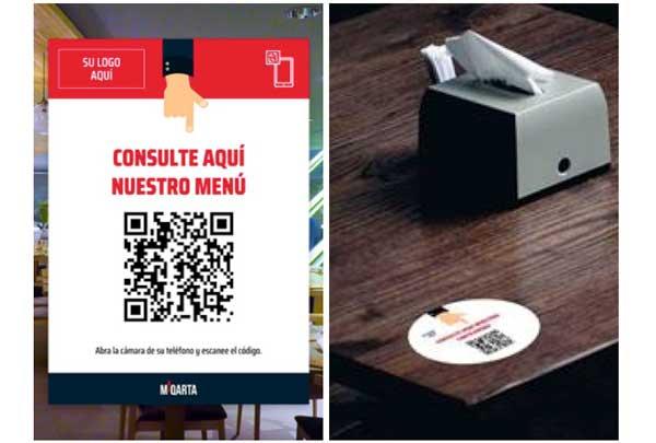 Profesionalhoreca, cartas digitales con códigos QR de Miqarta