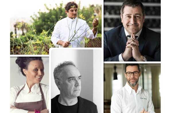 Profesionalhoreca, Mauro Colagreco, Josep Roca, Najat Kaanache, Ferran Adriá y Quique Dacosta, chefs que han intervenido en Gastronomika Live