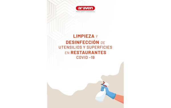 Profesionalhoreca, guía Araven de Limpieza y desinfección de utensilios y superficies en restaurantes Covid-19
