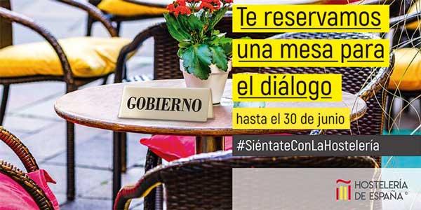 Profesionalhoreca, cartel de la campaña #SiéntateConLaHostelería