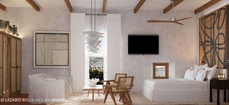 Profesionalhoreca, habitación de La Torre del Canónigo Petit Luxury Hotel, en Ibiza