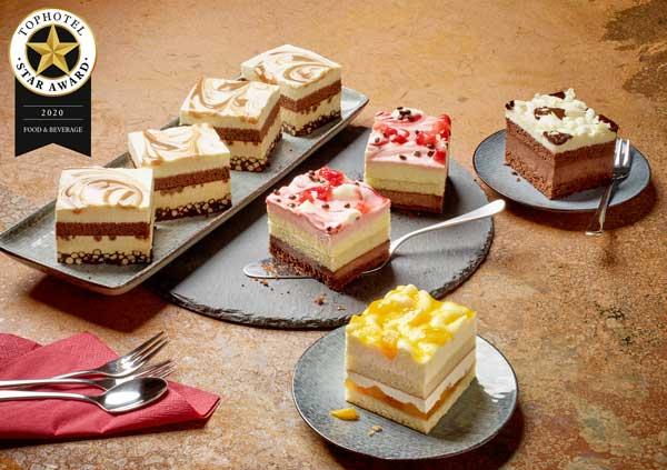 Profesionalhoreca, nuevas tartas de nata de Erlenbacher, de formato cuadrado