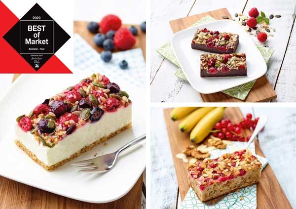 Profesionalhoreca, tartas saludables Placer Plus de Erlenbacher