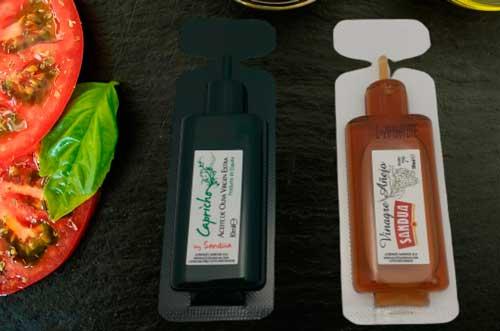 Profesionalhoreca, monodosis Sandúa de aceite de oliva virgen extra y vinagre