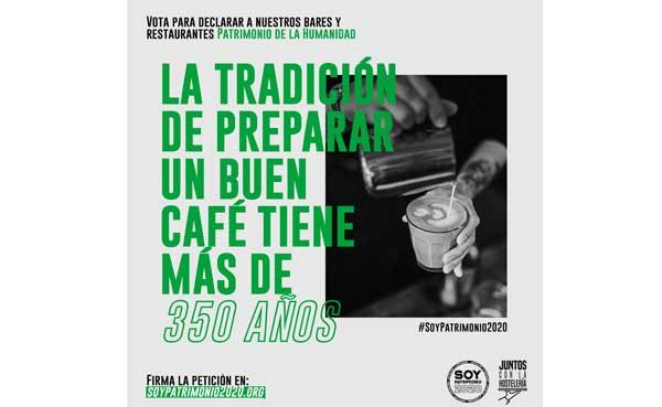 Profesionalhoreca, cartel de la campaña #SoyPatrimonio2020