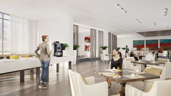 Profesionalhoreca, máquina Krea Touch en un buffet de hotel