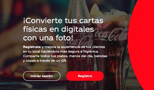 Profesionalhoreca, plataforma creatucartadigital.es de Coca-Cola